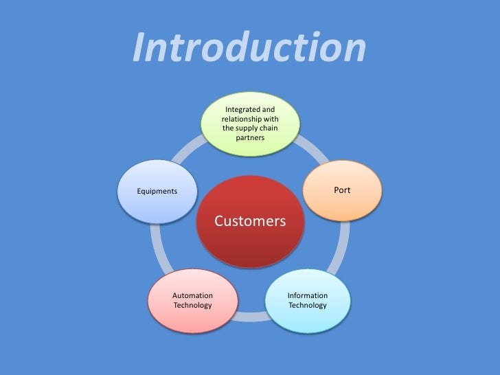 The impact of the Integration Supply    </li></ul>    Chain in Port <br /><ul><li>The impact Information Technology</li></...