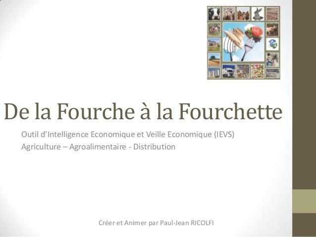 De la Fourche à la Fourchette Outil d'Intelligence Economique et Veille Economique (IEVS) Agriculture – Agroalimentaire - ...