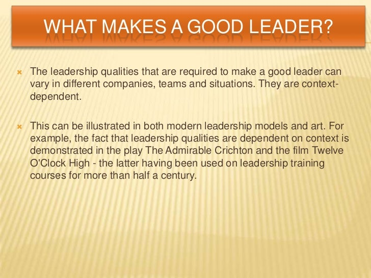 essay quality of leader