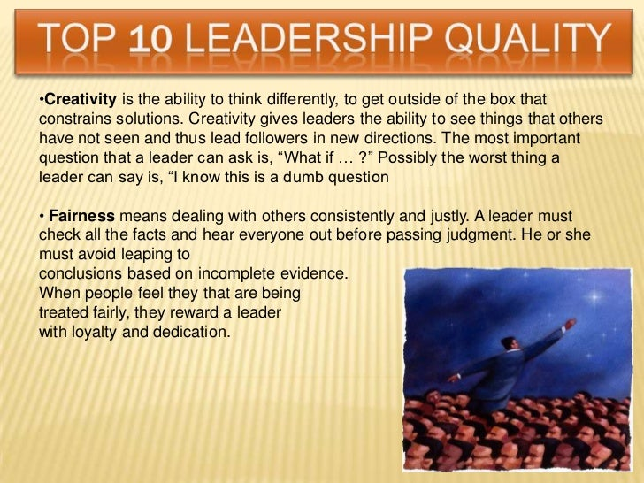 leadership qualities 8