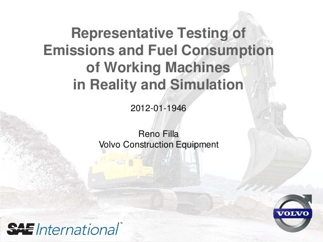 """Reno Filla (2012) """"Representative Testing of Emissions and Fuel Consumption of Working Machines in Reality and Simulation""""..."""