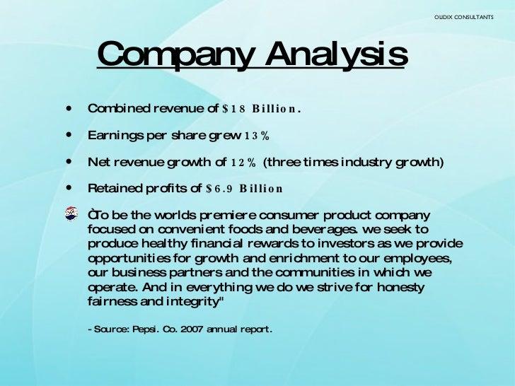 Company Analysis   <ul><li>Combined revenue of  $18 Billion .  </li></ul><ul><li>Earnings per share grew  13% </li></ul><u...