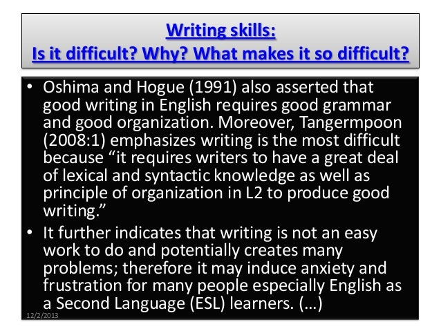 Improving Writing Skills: ELLs and the Joy of Writing