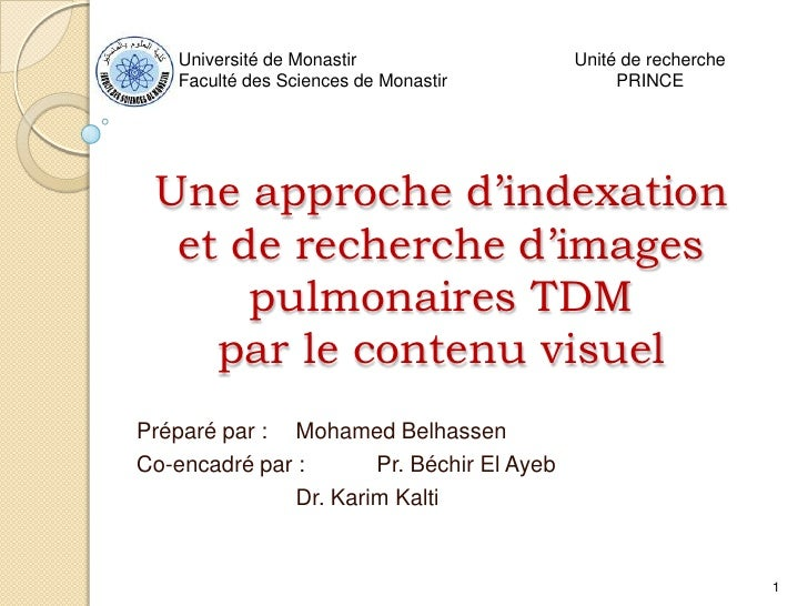 Université de Monastir                  Unité de recherche     Faculté des Sciences de Monastir             PRINCE      Un...