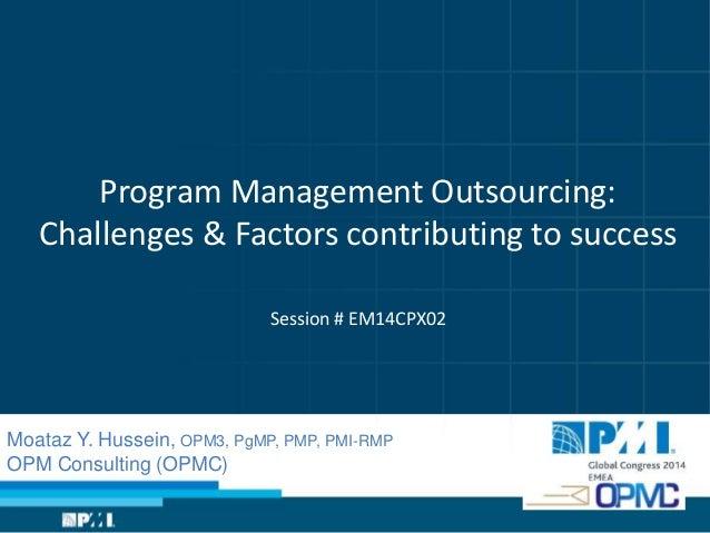 Program Management Outsourcing: Challenges & Factors