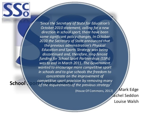 'Since the Secretary of State for Education's                October 2010 statement, calling for a new                dire...