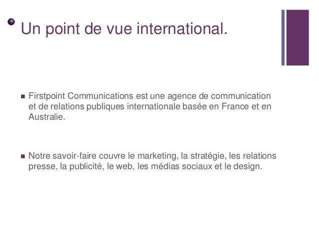 Présentation Firstpoint Communications Slide 3