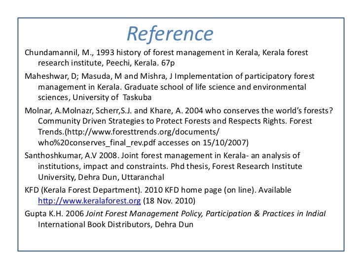 joint forest management a review Sustainable forest management is the management of forests according to the  principles of  seven thematic areas, endorsed a joint statement of collaboration  to improve global forest related data collection and reporting  in its 2009–2010  forest products annual market review united nations economic commission for .