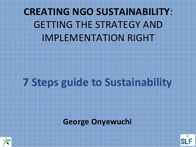 Guide to developing a sustainability strategy and action plan