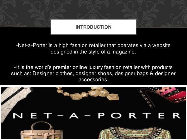 Net-a-Porter Presentation for Advertising 420 Slide 2