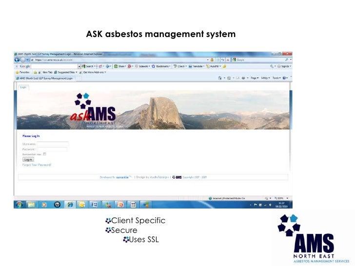 Presentation for asbestos management system - ASK Slide 2