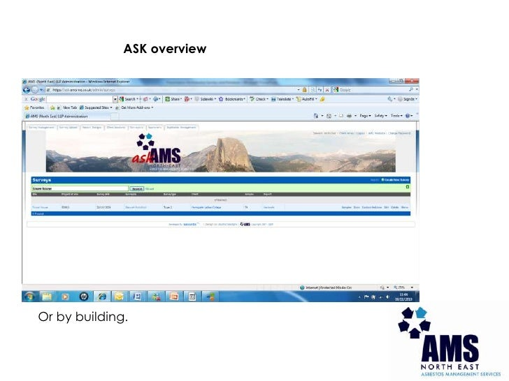 ASK overview<br />Or by building.<br />