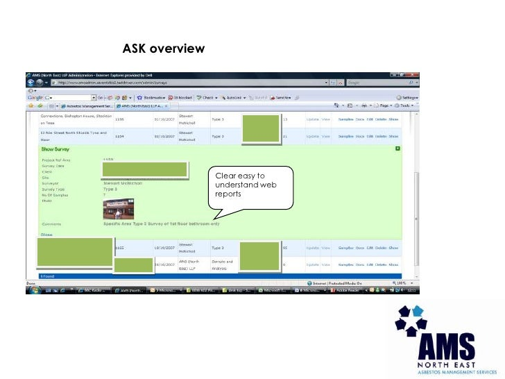 ASK overview<br />Clear easy to understand web reports<br />