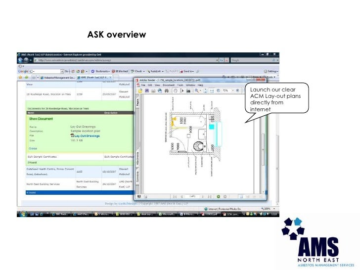 ASK overview<br />Launch our clear ACM Lay-out plans directly from internet<br />