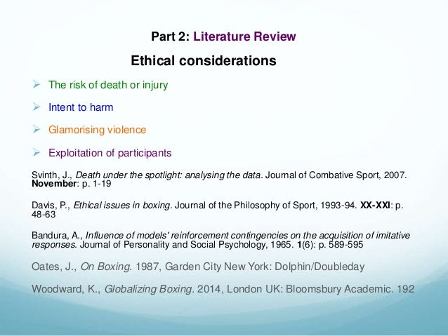 literature review on sports A literature review is an important part of a dissertation or thesis learn how to start finding sources of information, and write your literature review.