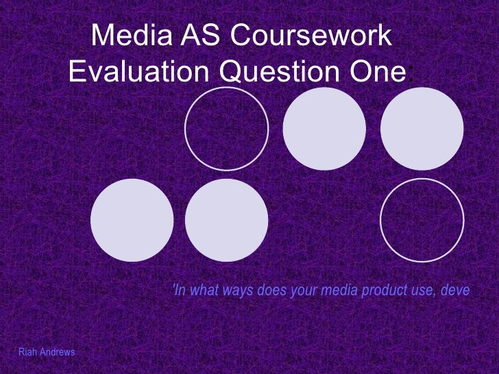 Media AS Coursework Evaluation Question One : 'In what ways does your media product use, develop or challenge forms and co...