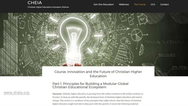 Disruptive Innovation and Accreditation in Christian Higher
