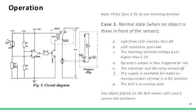 conveyor belt wiring diagram conveyor belt controller  a feasibility study  conveyor belt controller  a feasibility
