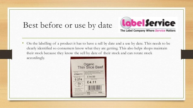 labeling and dating food service
