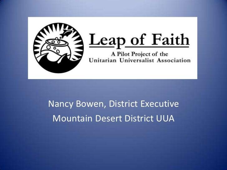Photo Album<br />Nancy Bowen, District Executive<br />Mountain Desert District UUA<br />
