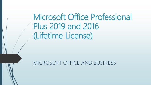 microsoft office pro 2016 lifetime license