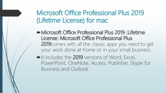 Get Microsoft Office Professional Plus 2019 (Lifetime License) today …
