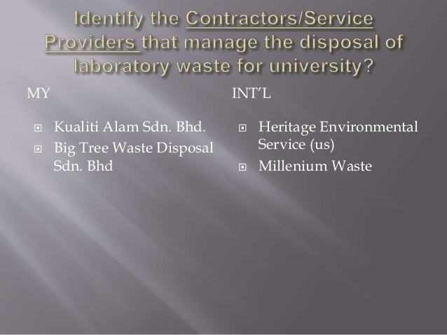 Laboratory Waste In Medical Health University