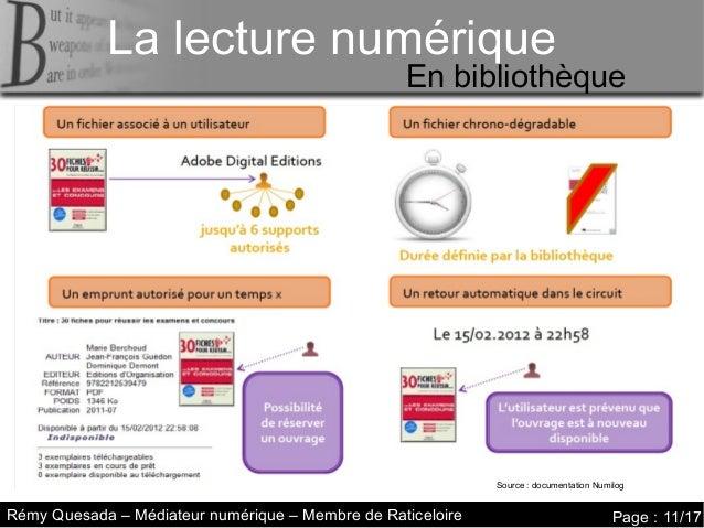 La lecture numérique     La lecture numériqueLa lecture numérique                                                  En bibl...