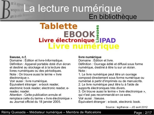 La lecture numérique     La lecture numériqueLa lecture numérique                                                         ...