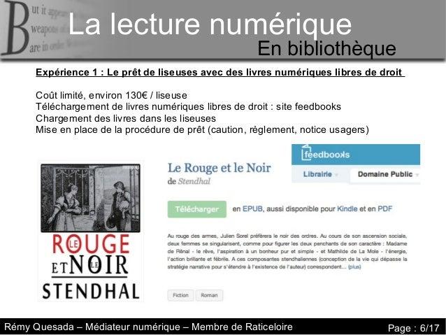 La lecture numérique     La lecture numériqueLa lecture numérique                                                       En...