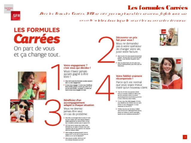 2 Les formules Carrées Ave c le s Fo rm ule s Carré e s, SFR ne cré e pas sim ple m e nt de s no uve aux fo rfaits m ais u...