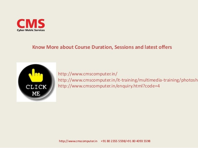 http://www.cmscomputer.in +91 80 2355 5598/+91 80 4093 5598 Know More about Course Duration, Sessions and latest offers ht...