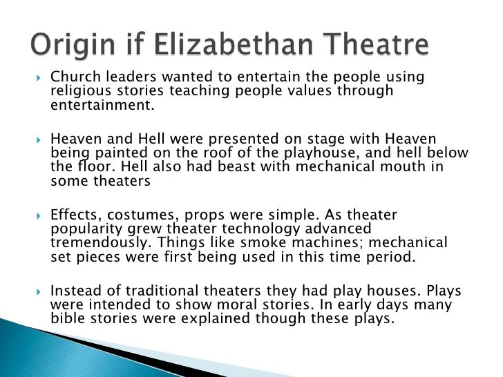 Elizabethan Theatre and Its Audience Essay Sample