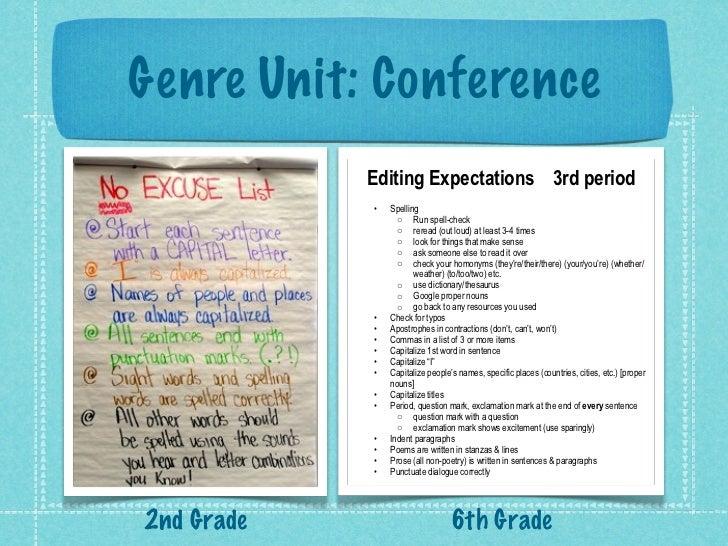 6th grade genre unit