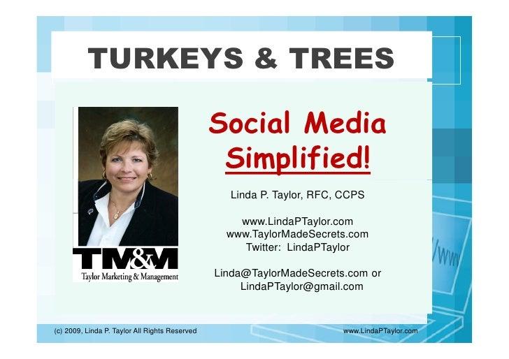 TURKEYS & TREES                                                  Social Media                                             ...