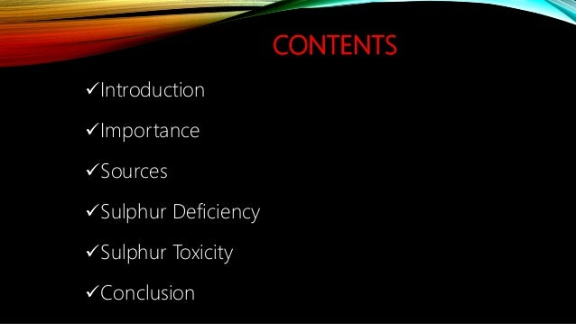 Sulphur Deficiency And Toxicity Symptoms in Human Body