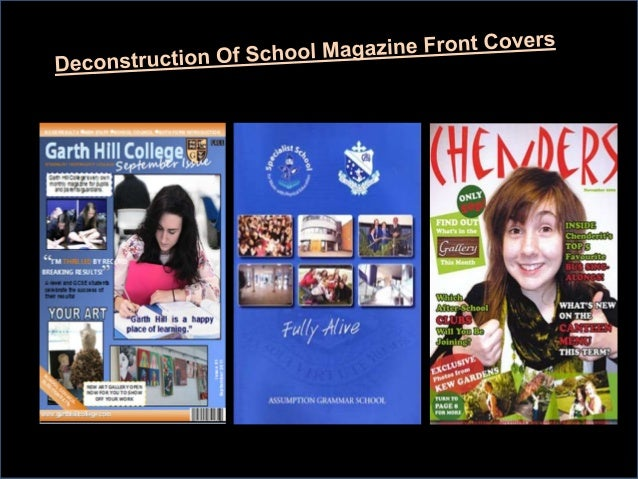 First Front Cover Deconstruction                                                                               •· The slog...