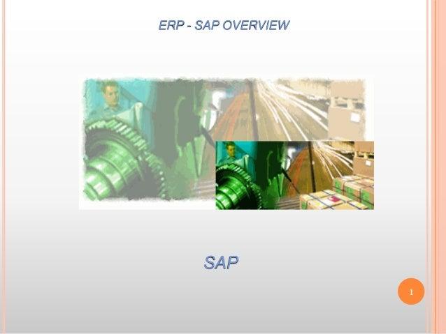 SAP ERP - SAP OVERVIEW 1