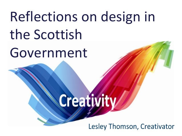 Reflections on design in the Scottish Government