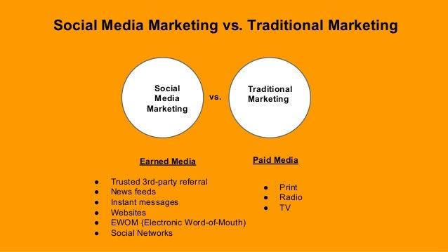 Social Media Marketing Social Media Marketing vs. Traditional Marketing vs. Traditional Marketing Earned Media Paid Media ...