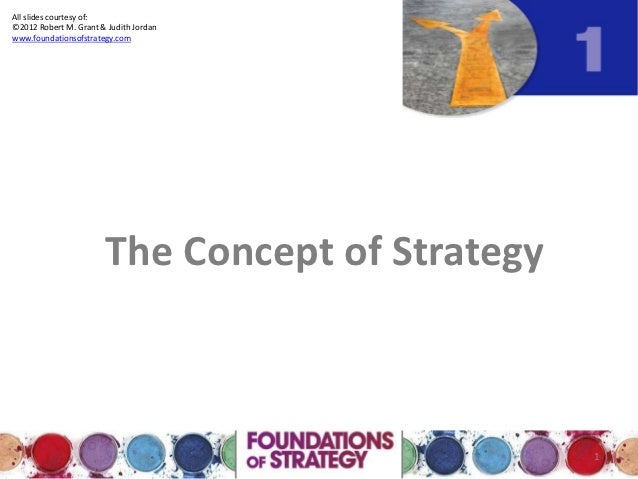 All slides courtesy of:©2012 Robert M. Grant & Judith Jordanwww.foundationsofstrategy.com                       The Concep...