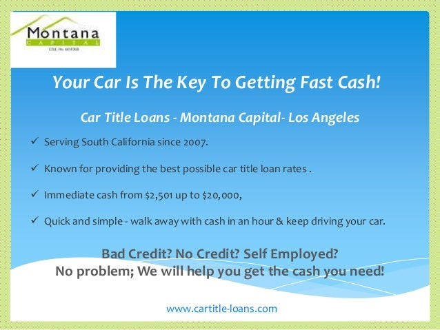 Cash For Car Title Loans In Los Angeles