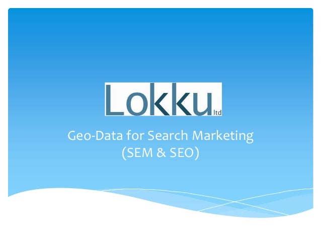 Geo-Data for Search Marketing (SEM & SEO)