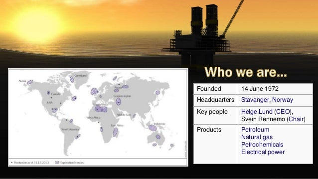 Presentation for Statoil ASA case study Slide 2