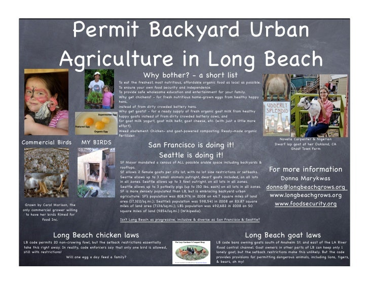 Permit Backyard Urban                    Agriculture in Long Beach                                                        ...
