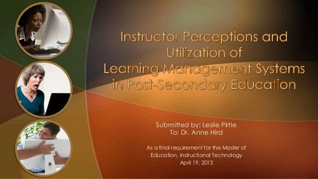 Submitted by: Leslie Pirtle To: Dr. Anne Hird As a final requirement for the Master of Education, Instructional Technology...