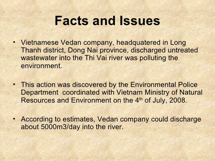 vedan vietnam case Read this essay on corporate bond in vietnam  such as the case of vedan co  stainable development in the case of panasonic vietnam co.