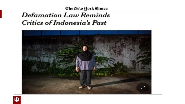 Online Criminal Defamation and The Chilling Effects on Free Speech in Indonesia