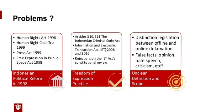 Problems ? • Human Rights Act 1998 • Human Right Case Trial 1999 • Press Act 1999 • Free Expression in Public Space Act 19...