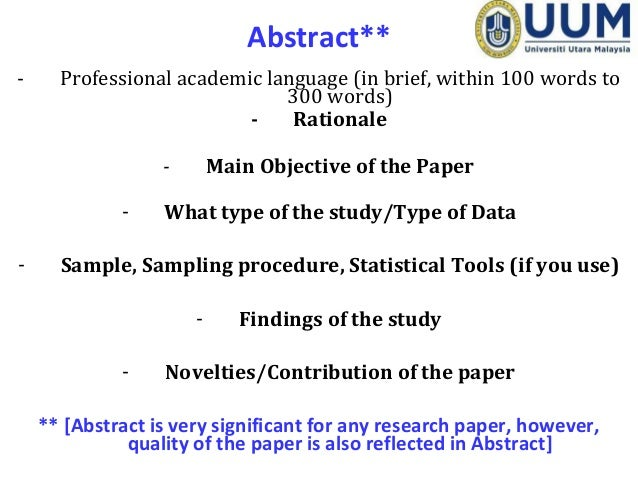 abstract sample research paper